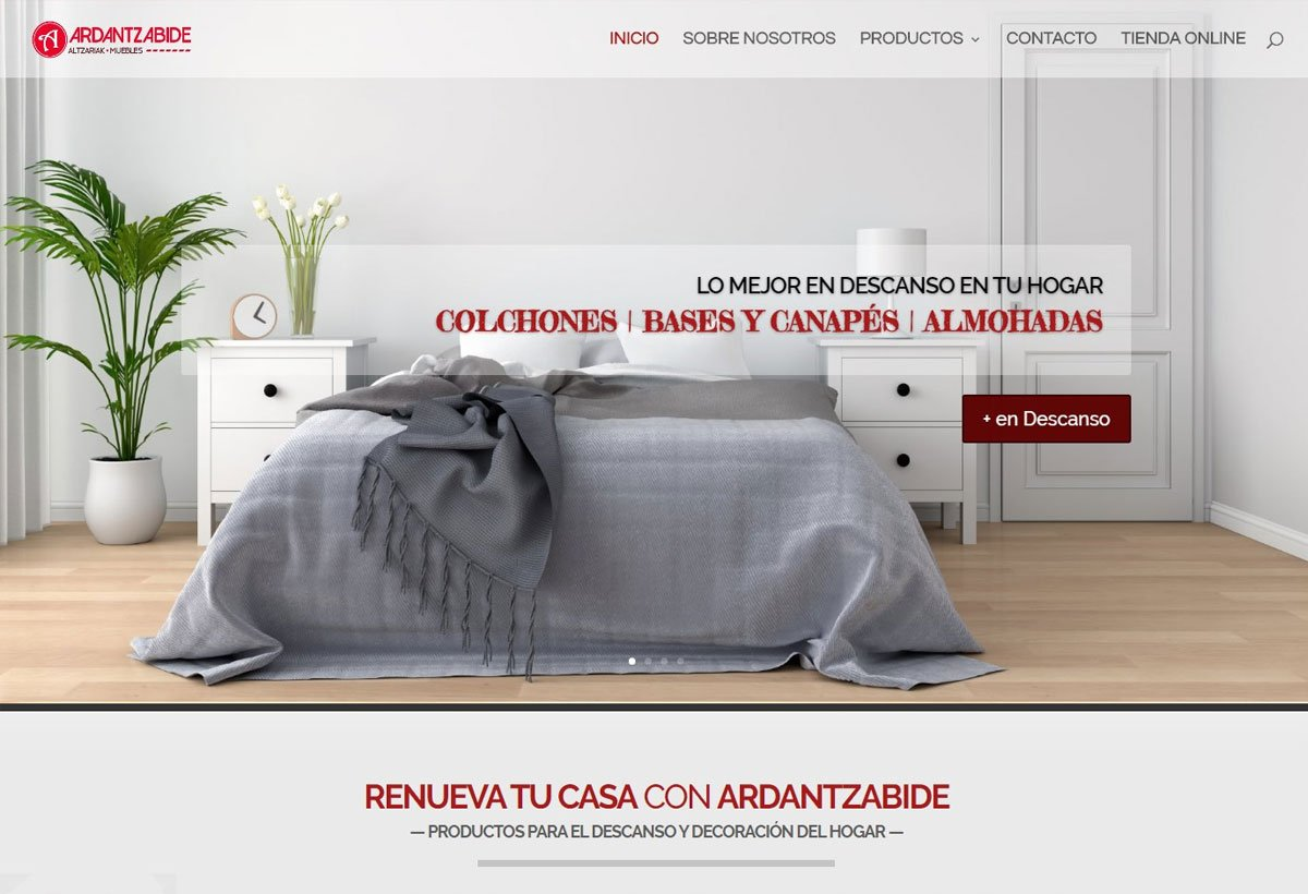 Diseño web Muebles Ardantzabide