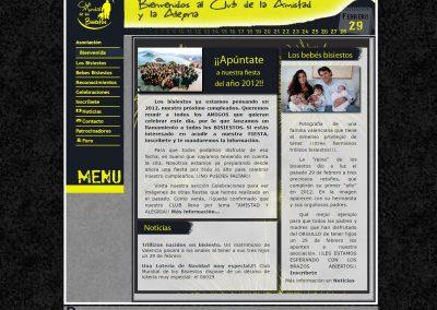 Club Mundial de los Bisiestos Diseño Web
