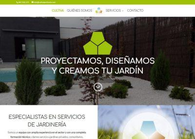 Diseño Web Cultiva Jardinería