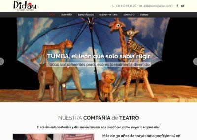 Didau Teatro Diseño Página Web