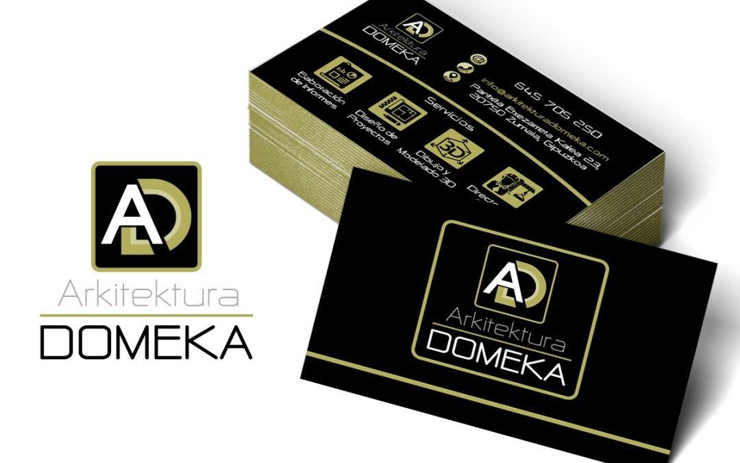Logotipo y Tarjeta de Domeka Arkitektura