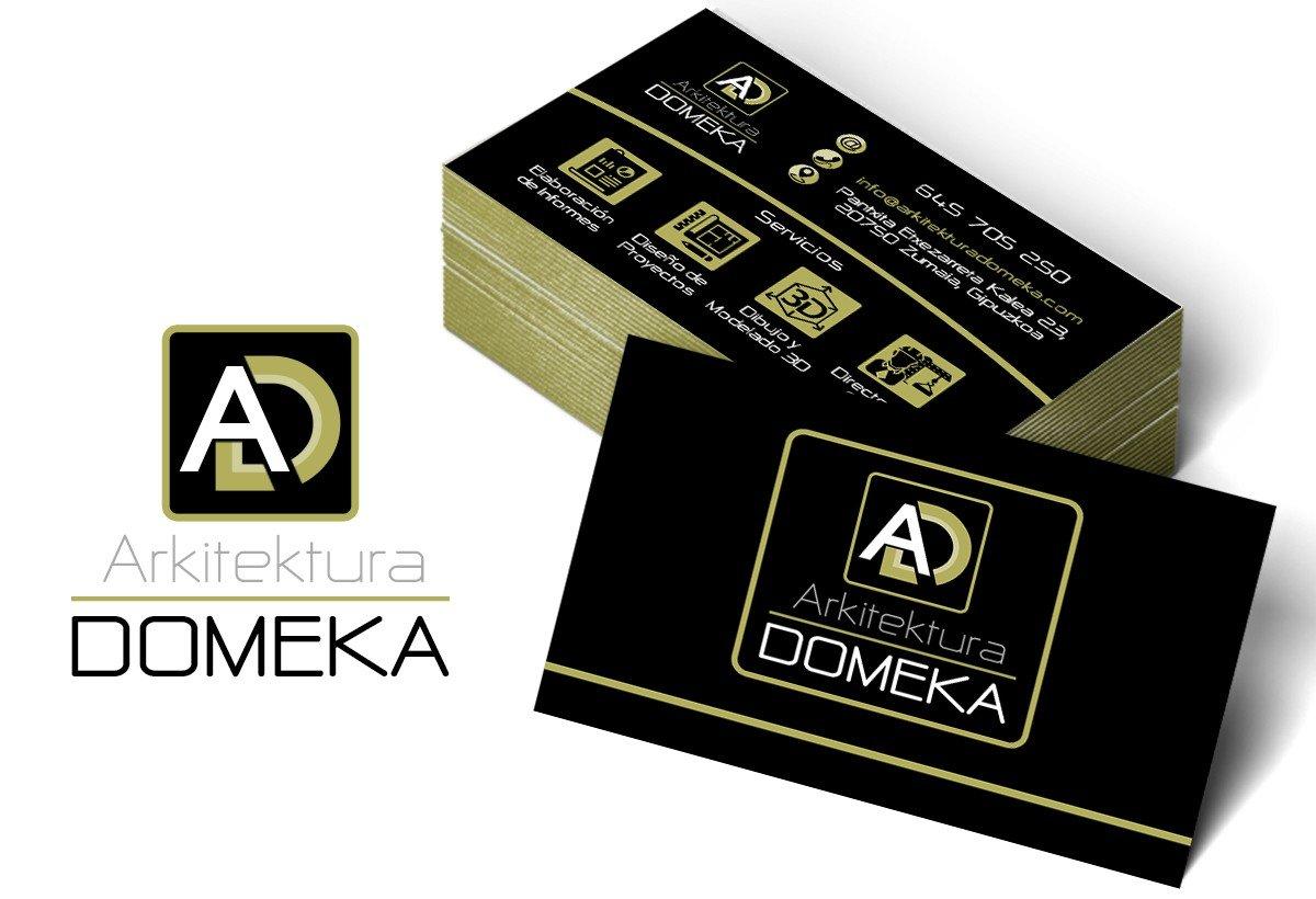 Diseño de tarjetas Domeka Arkitektura