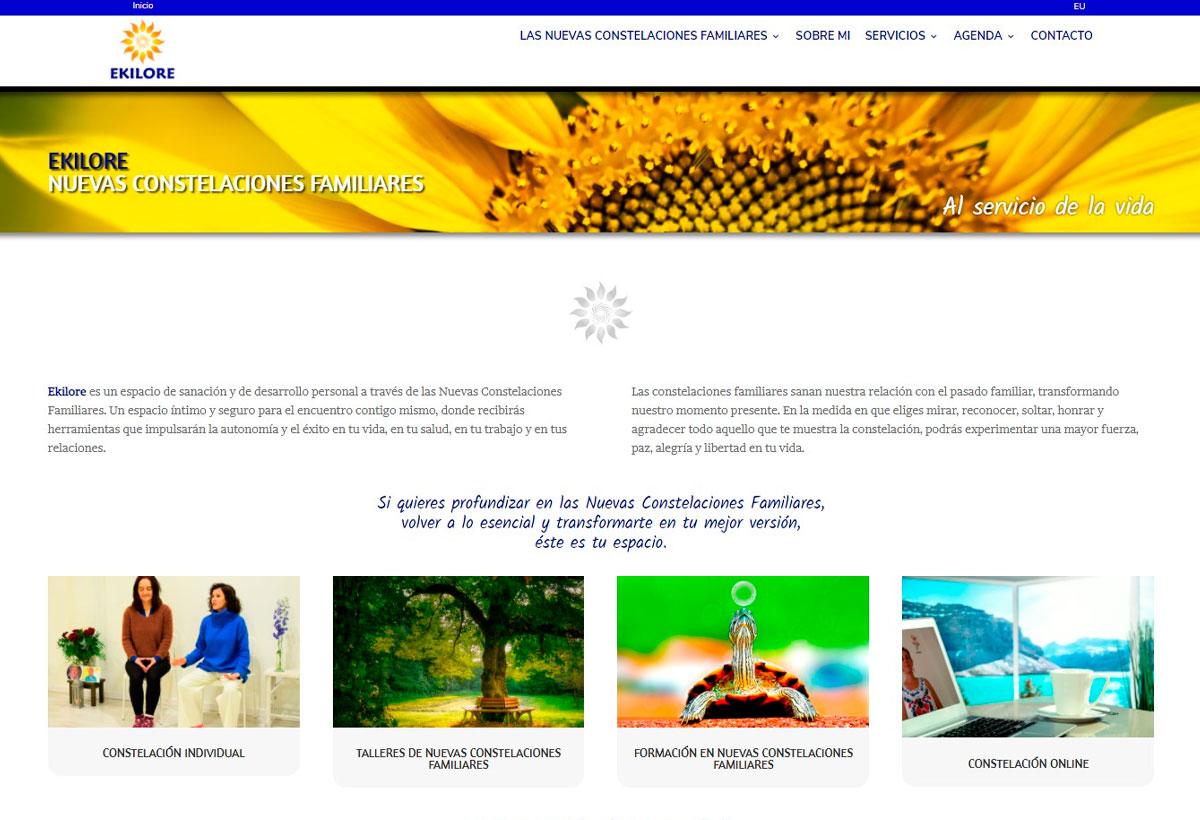 Ekilore Constelaciones Familiares Diseño Web