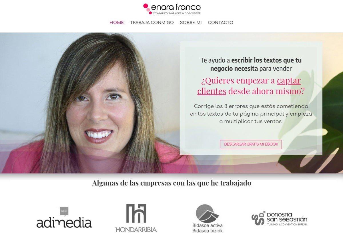 Diseño web Enara Franco