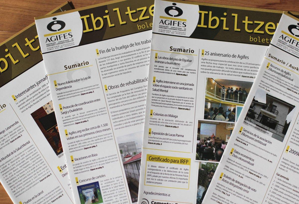 Diseño de boletín Ibiltzen