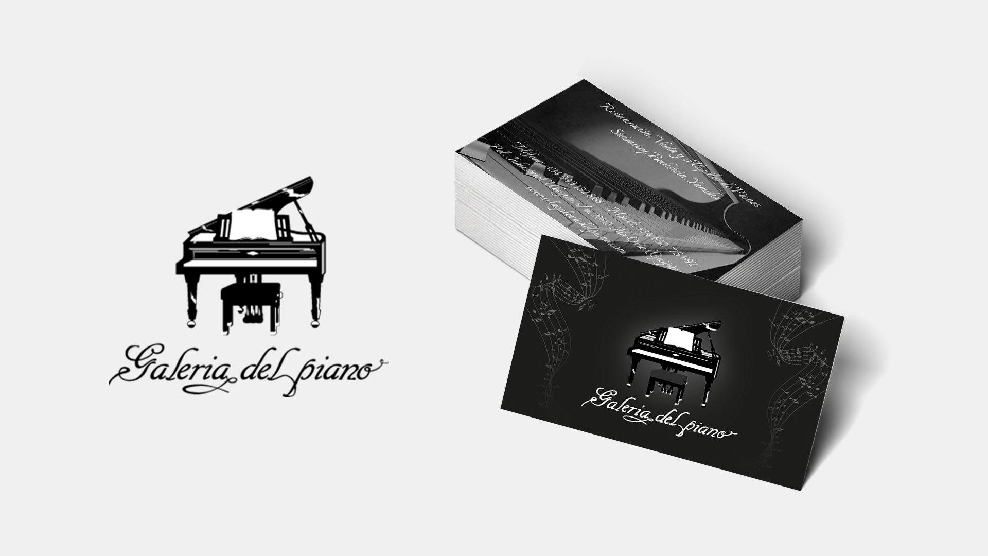 Diseño de tarjetas La Galería del Piano
