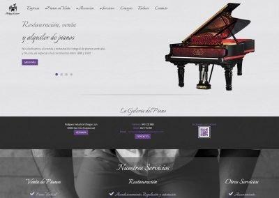 Diseño Web La Galería del Piano