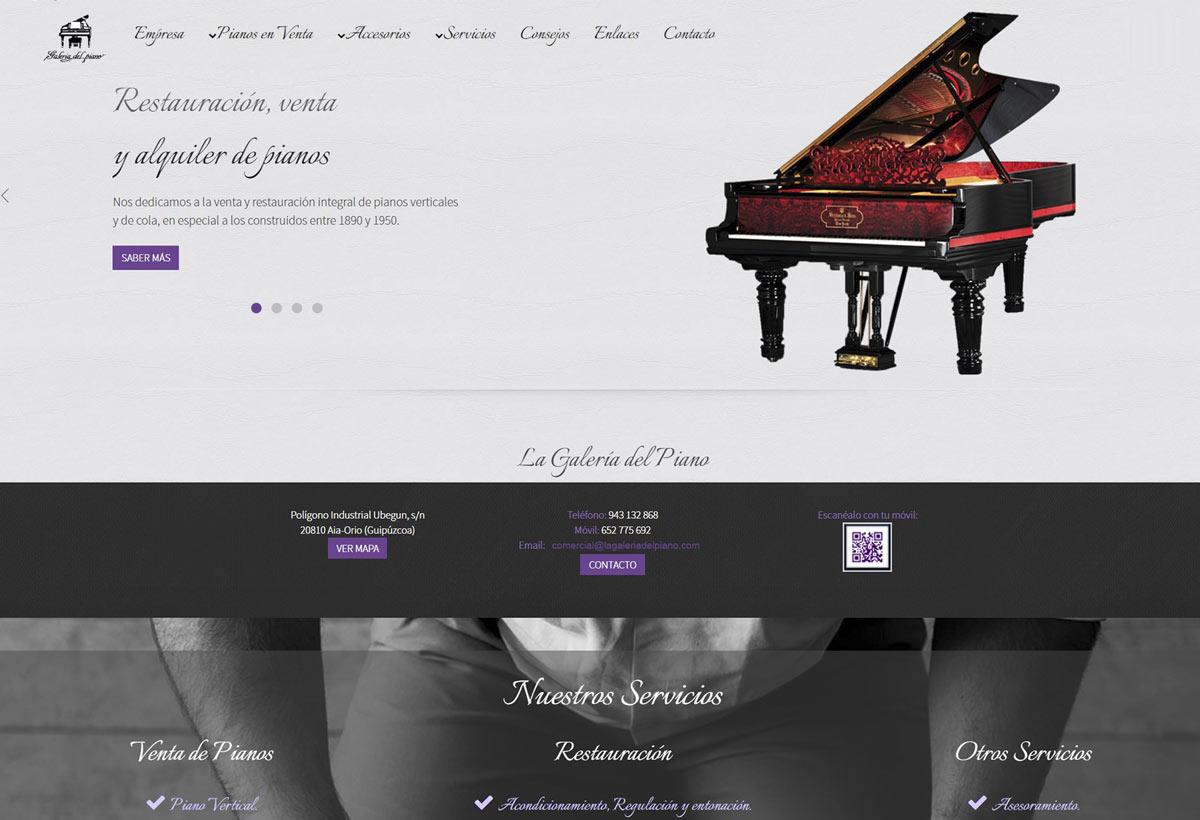 La Galería del Piano Diseño de Página Web