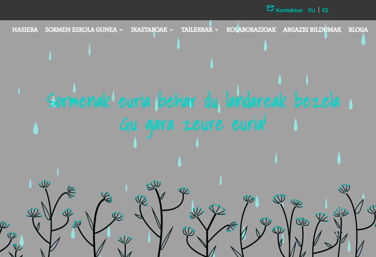 Sormen Eskola Gunea Diseño Web